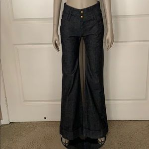 SAMPLE! Dittos 70's Wide Waist Disco Flare Jeans